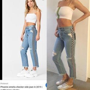 Nwt 2019 LF Phoenix Emelia checkered jeans 26